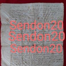 Manuscritos antiguos: MANUSCRITO 1704. FERNANDO ANTONIO FERNÁNDEZ DE VELASCO Y TOVAR. ISAAC SECABECS. S. PERE RIUDEVITLLES. Lote 229567355