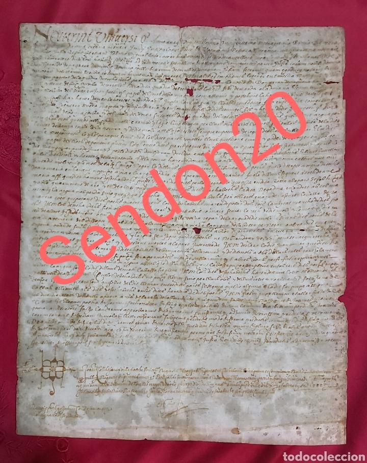 PERGAMINO. MANUSCRITO 1571. MARQUESADO TORRELLES DE FOIX. DON GARAU DE PAGUERA/PEGUERA. SECABECS (Coleccionismo - Documentos - Manuscritos)
