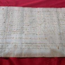 Manuscritos antiguos: MANUSCRITO PERGAMINO 1584. MARQUESADO TORRELLES DE FOIX. RAFECAS/RAFEGUES. FERRER. OLIVELLA. Lote 229739430