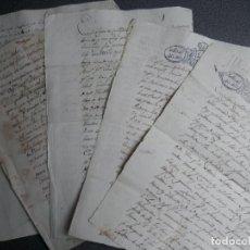 Manuscritos antiguos: 5 MANUSCRITOS AÑOS 1826-47 CALZADILLA CÁCERES VENTAS, DEUDAS, PODERES. Lote 230316005