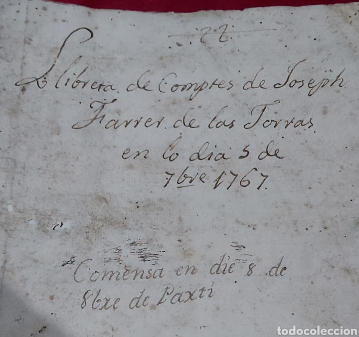 Manuscritos antiguos: MARQUESADO DE FOIX. LIBRETAS DE CUENTAS DE JOSEPH FARRRER DE LAS TORRAS (1766) - Foto 2 - 230411495