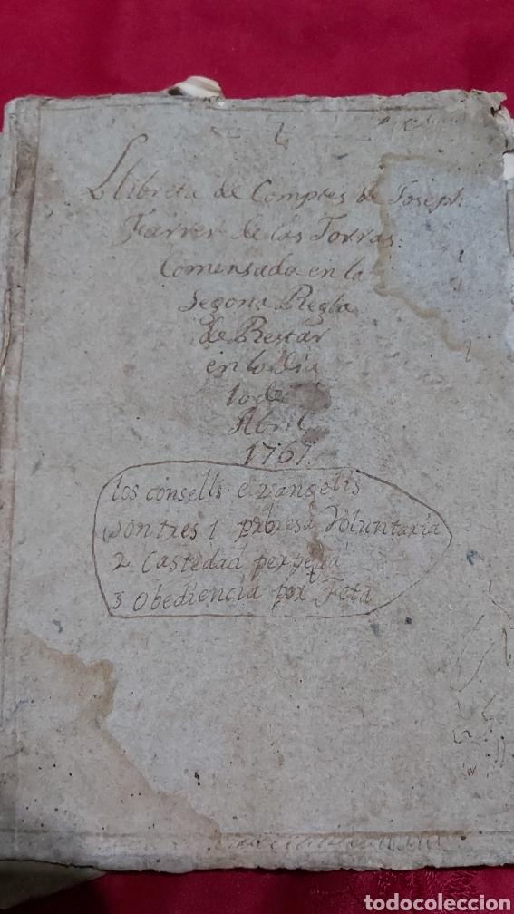 Manuscritos antiguos: MARQUESADO DE FOIX. LIBRETAS DE CUENTAS DE JOSEPH FARRRER DE LAS TORRAS (1766) - Foto 3 - 230411495