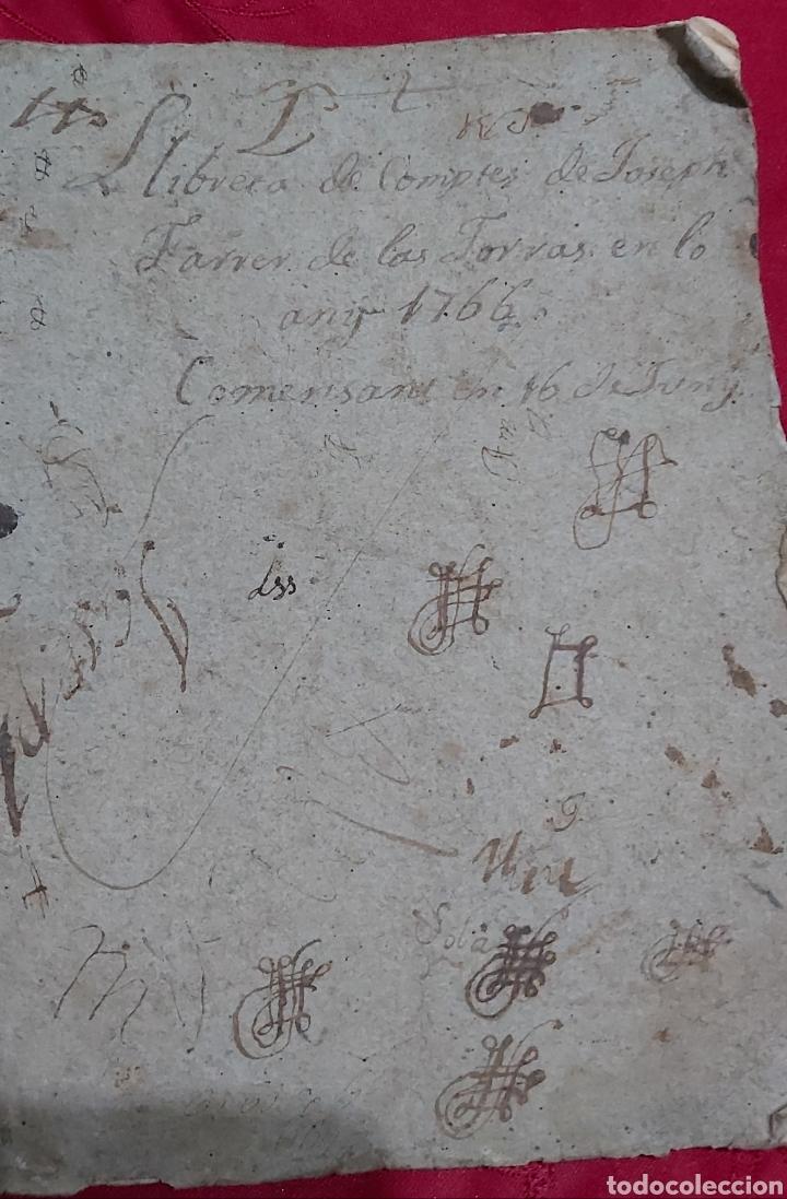 Manuscritos antiguos: MARQUESADO DE FOIX. LIBRETAS DE CUENTAS DE JOSEPH FARRRER DE LAS TORRAS (1766) - Foto 4 - 230411495
