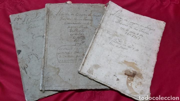 MARQUESADO DE FOIX. LIBRETAS DE CUENTAS DE JOSEPH FARRRER DE LAS TORRAS (1766) (Coleccionismo - Documentos - Manuscritos)