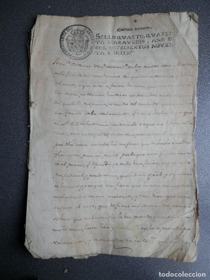 8 MANUSCRITOS AÑOS 1798-1801 FUENTECEN BURGOS CON 11 FISCALES PLEITO Y ACTUACIONES JUDICIALES (Coleccionismo - Documentos - Manuscritos)