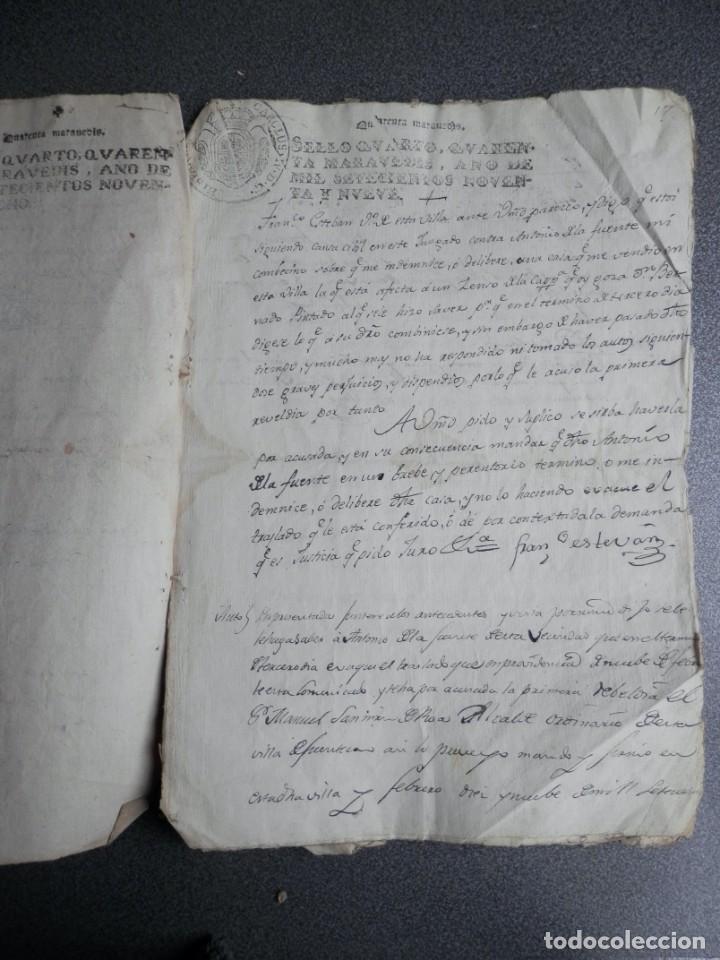 Manuscritos antiguos: 8 MANUSCRITOS AÑOS 1798-1801 FUENTECEN BURGOS CON 11 FISCALES PLEITO Y ACTUACIONES JUDICIALES - Foto 2 - 230454820