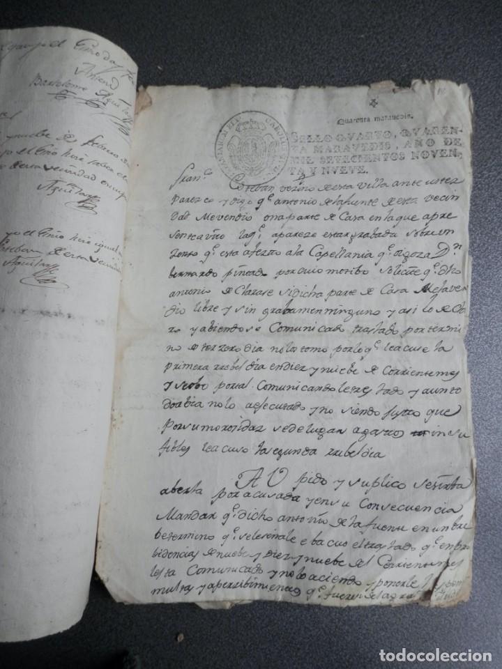 Manuscritos antiguos: 8 MANUSCRITOS AÑOS 1798-1801 FUENTECEN BURGOS CON 11 FISCALES PLEITO Y ACTUACIONES JUDICIALES - Foto 3 - 230454820