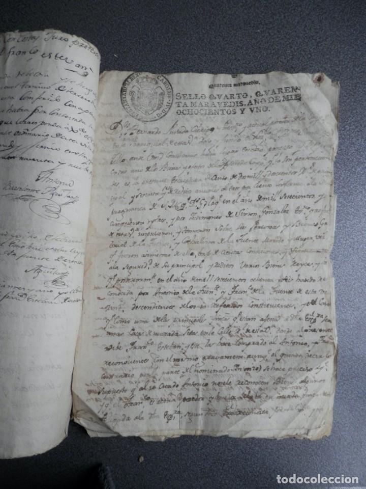 Manuscritos antiguos: 8 MANUSCRITOS AÑOS 1798-1801 FUENTECEN BURGOS CON 11 FISCALES PLEITO Y ACTUACIONES JUDICIALES - Foto 4 - 230454820
