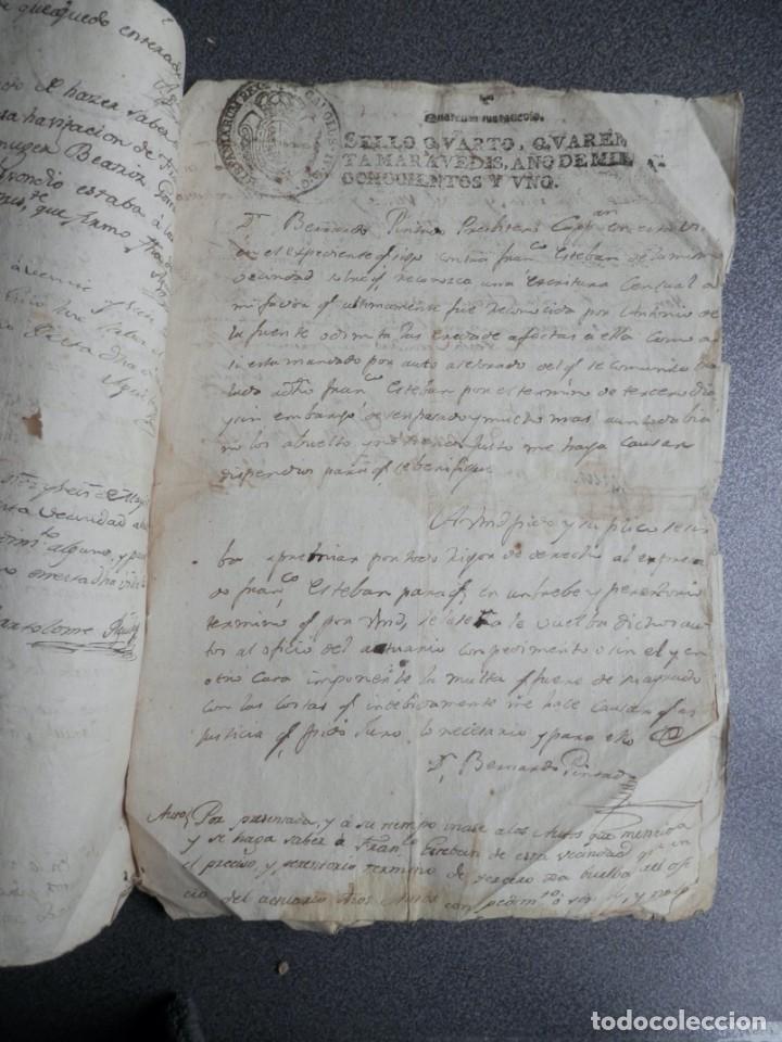 Manuscritos antiguos: 8 MANUSCRITOS AÑOS 1798-1801 FUENTECEN BURGOS CON 11 FISCALES PLEITO Y ACTUACIONES JUDICIALES - Foto 5 - 230454820
