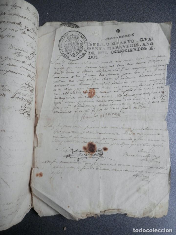 Manuscritos antiguos: 8 MANUSCRITOS AÑOS 1798-1801 FUENTECEN BURGOS CON 11 FISCALES PLEITO Y ACTUACIONES JUDICIALES - Foto 6 - 230454820