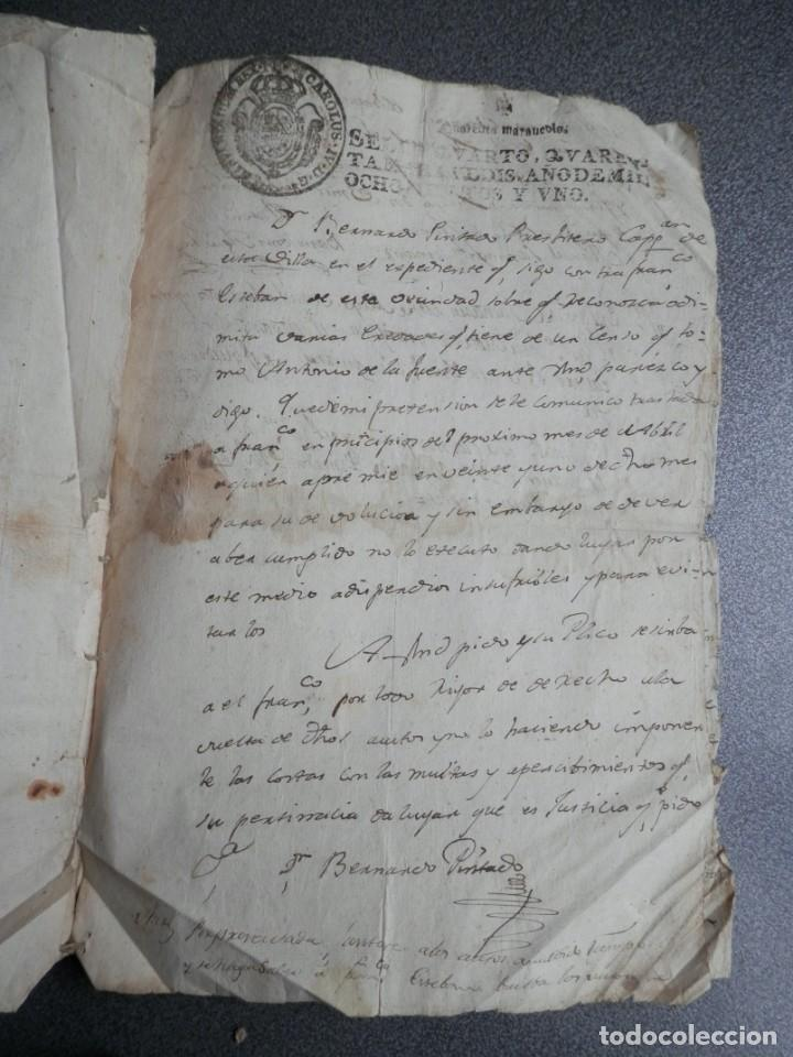 Manuscritos antiguos: 8 MANUSCRITOS AÑOS 1798-1801 FUENTECEN BURGOS CON 11 FISCALES PLEITO Y ACTUACIONES JUDICIALES - Foto 7 - 230454820