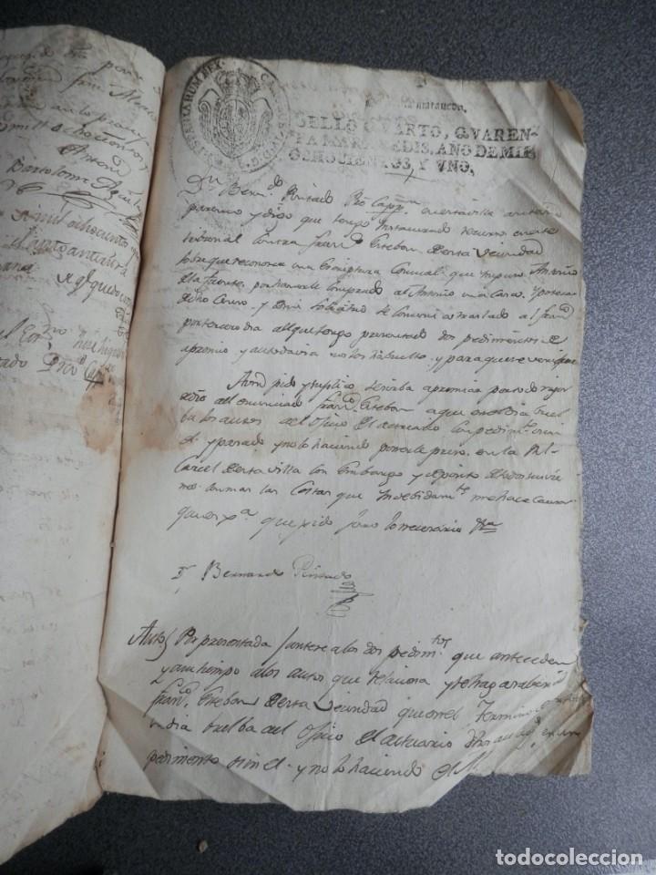 Manuscritos antiguos: 8 MANUSCRITOS AÑOS 1798-1801 FUENTECEN BURGOS CON 11 FISCALES PLEITO Y ACTUACIONES JUDICIALES - Foto 8 - 230454820