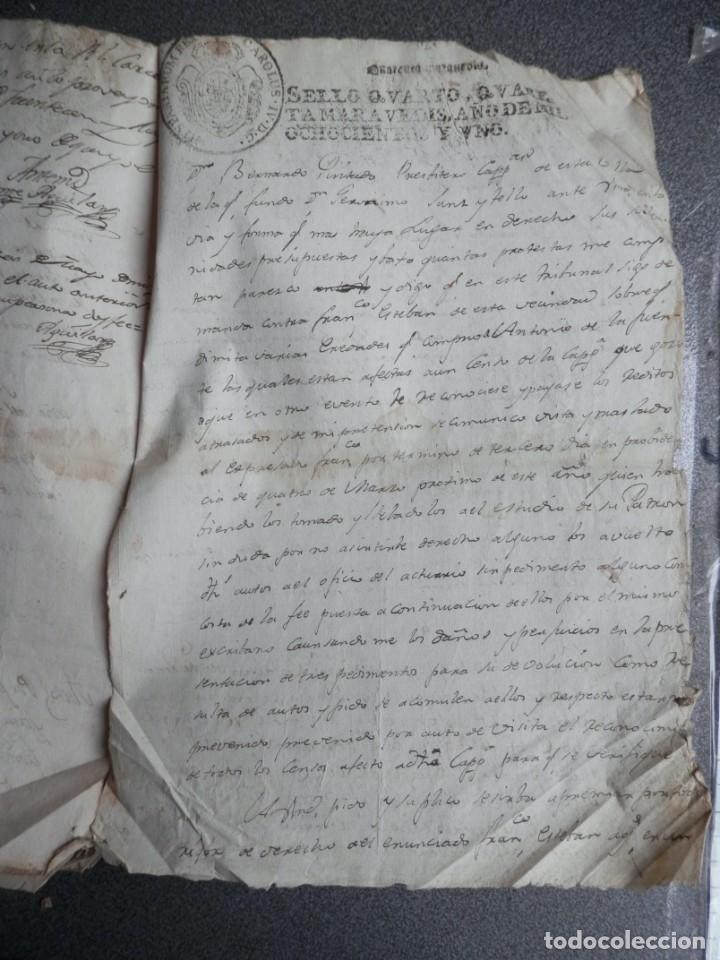 Manuscritos antiguos: 8 MANUSCRITOS AÑOS 1798-1801 FUENTECEN BURGOS CON 11 FISCALES PLEITO Y ACTUACIONES JUDICIALES - Foto 9 - 230454820