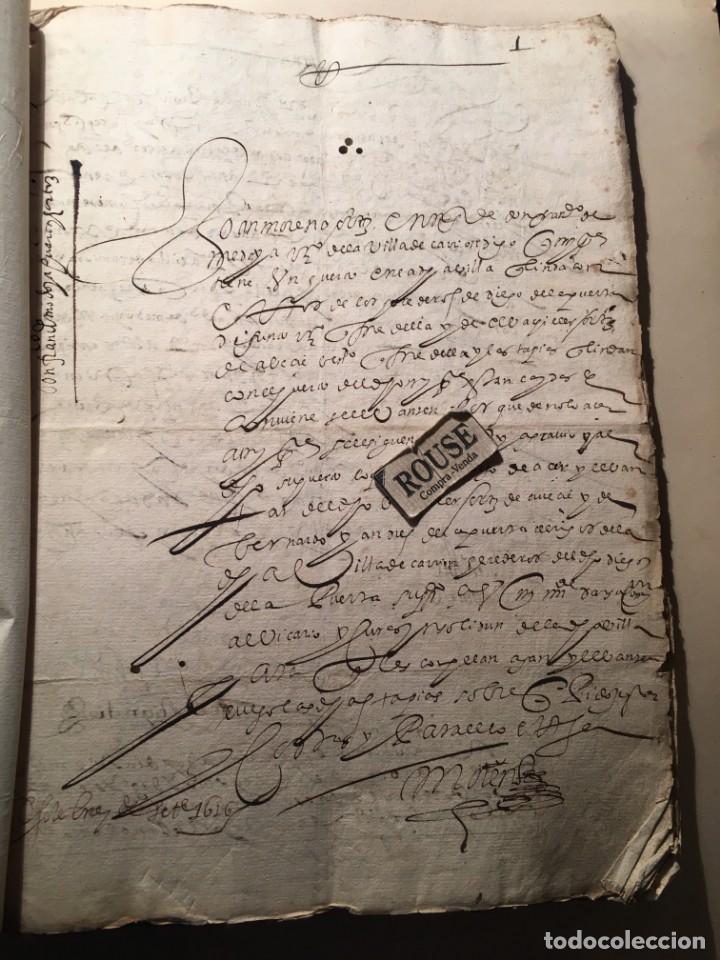 CARRION DE LOS CONDES ( PALENCIA) - ANTIGUO DOCUMENTO MANUSCRITO 1617 - 106 PAG. 30X21 CM. (Coleccionismo - Documentos - Manuscritos)