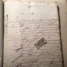 Manuscritos antiguos: CARRION DE LOS CONDES ( PALENCIA) - ANTIGUO DOCUMENTO MANUSCRITO 1617 - 106 PAG. 30X21 CM.. Lote 231218280