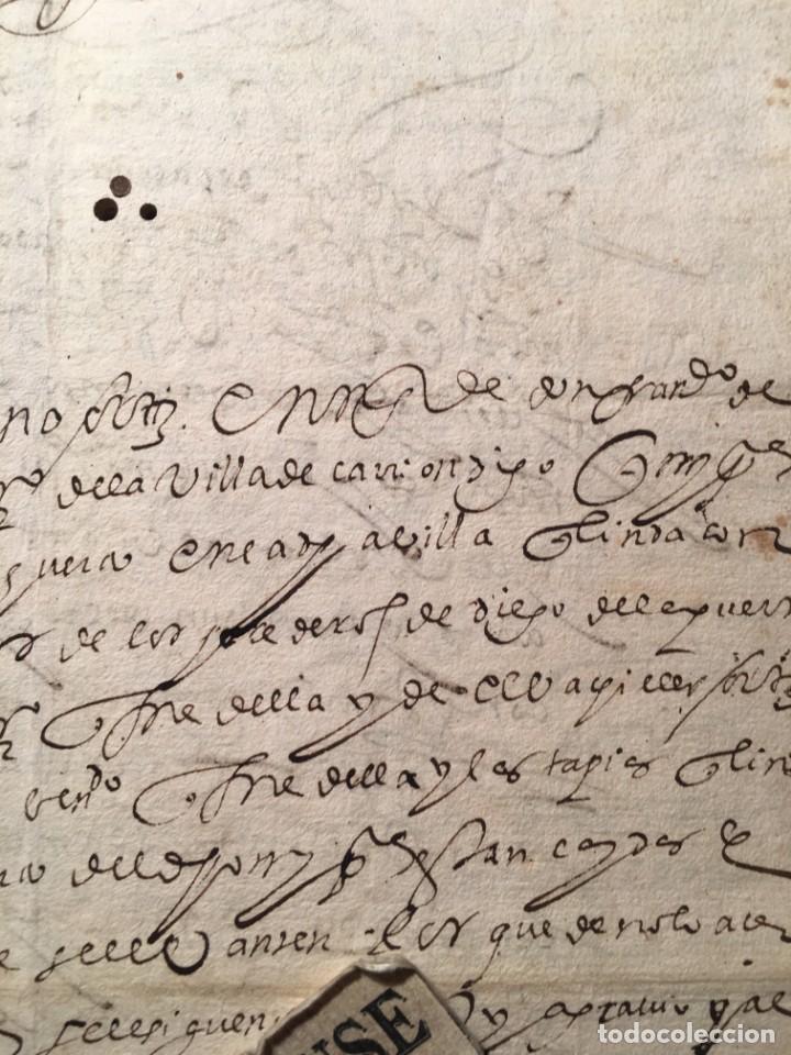 Manuscritos antiguos: CARRION DE LOS CONDES ( PALENCIA) - antiguo documento manuscrito 1617 - 106 PAG. 30X21 CM. - Foto 2 - 231218280