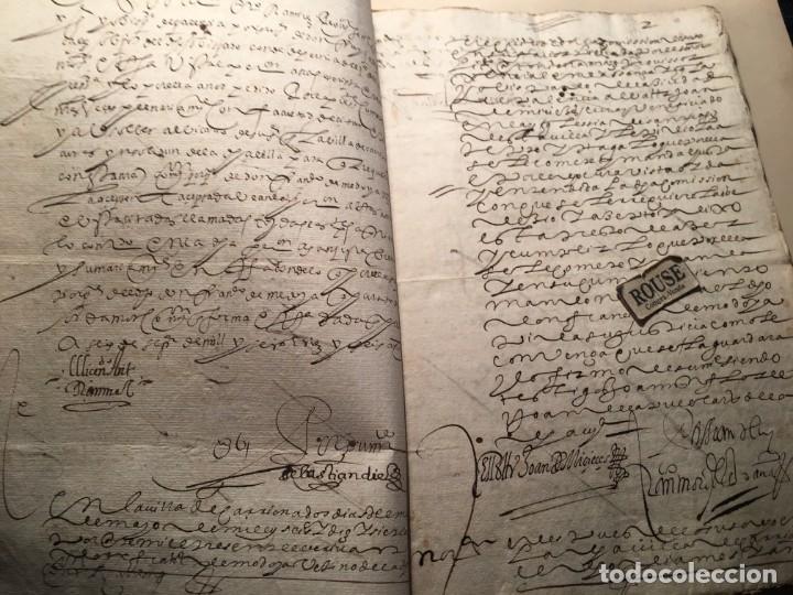 Manuscritos antiguos: CARRION DE LOS CONDES ( PALENCIA) - antiguo documento manuscrito 1617 - 106 PAG. 30X21 CM. - Foto 3 - 231218280