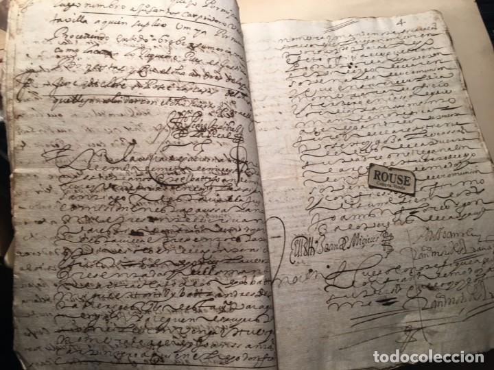 Manuscritos antiguos: CARRION DE LOS CONDES ( PALENCIA) - antiguo documento manuscrito 1617 - 106 PAG. 30X21 CM. - Foto 4 - 231218280