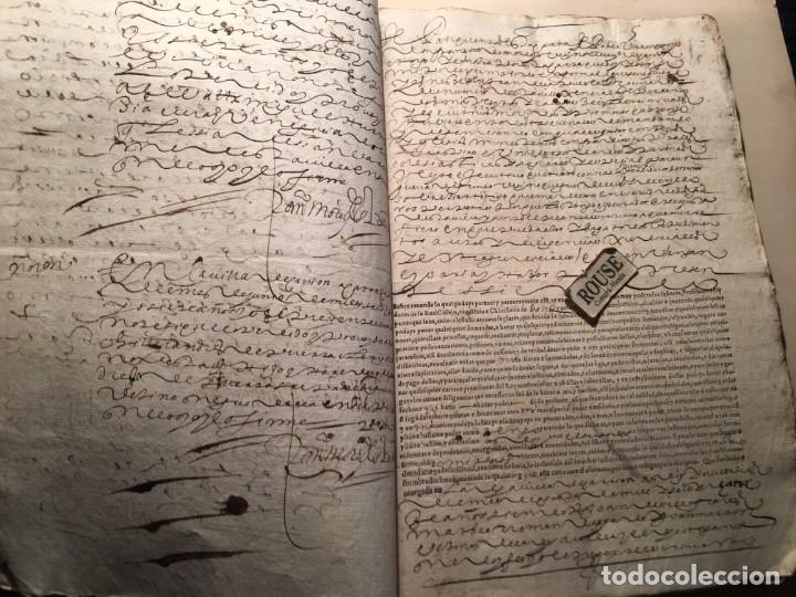 Manuscritos antiguos: CARRION DE LOS CONDES ( PALENCIA) - antiguo documento manuscrito 1617 - 106 PAG. 30X21 CM. - Foto 5 - 231218280