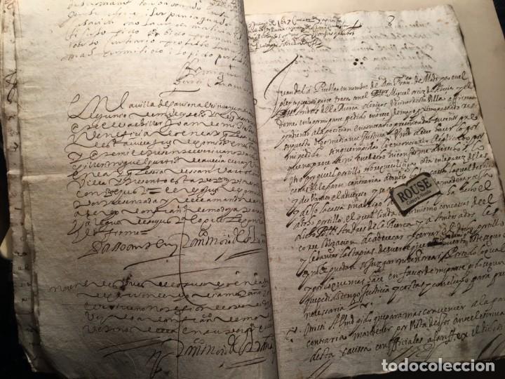 Manuscritos antiguos: CARRION DE LOS CONDES ( PALENCIA) - antiguo documento manuscrito 1617 - 106 PAG. 30X21 CM. - Foto 6 - 231218280