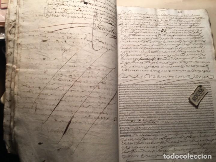 Manuscritos antiguos: CARRION DE LOS CONDES ( PALENCIA) - antiguo documento manuscrito 1617 - 106 PAG. 30X21 CM. - Foto 8 - 231218280