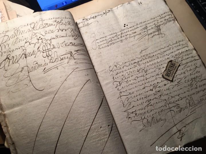 Manuscritos antiguos: CARRION DE LOS CONDES ( PALENCIA) - antiguo documento manuscrito 1617 - 106 PAG. 30X21 CM. - Foto 9 - 231218280