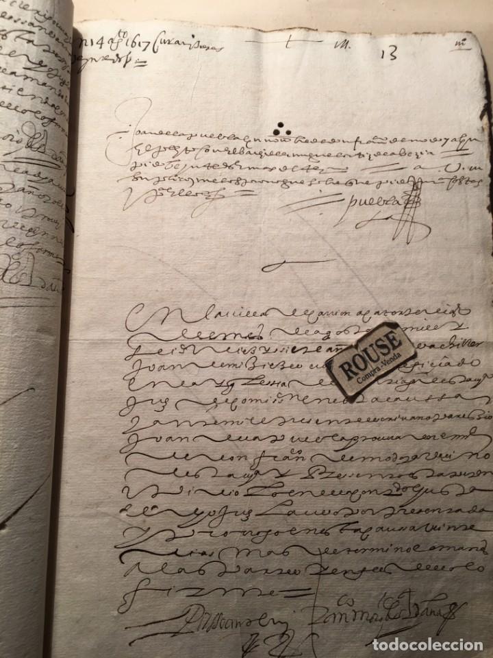 Manuscritos antiguos: CARRION DE LOS CONDES ( PALENCIA) - antiguo documento manuscrito 1617 - 106 PAG. 30X21 CM. - Foto 11 - 231218280