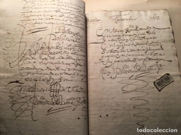 Manuscritos antiguos: CARRION DE LOS CONDES ( PALENCIA) - antiguo documento manuscrito 1617 - 106 PAG. 30X21 CM. - Foto 12 - 231218280