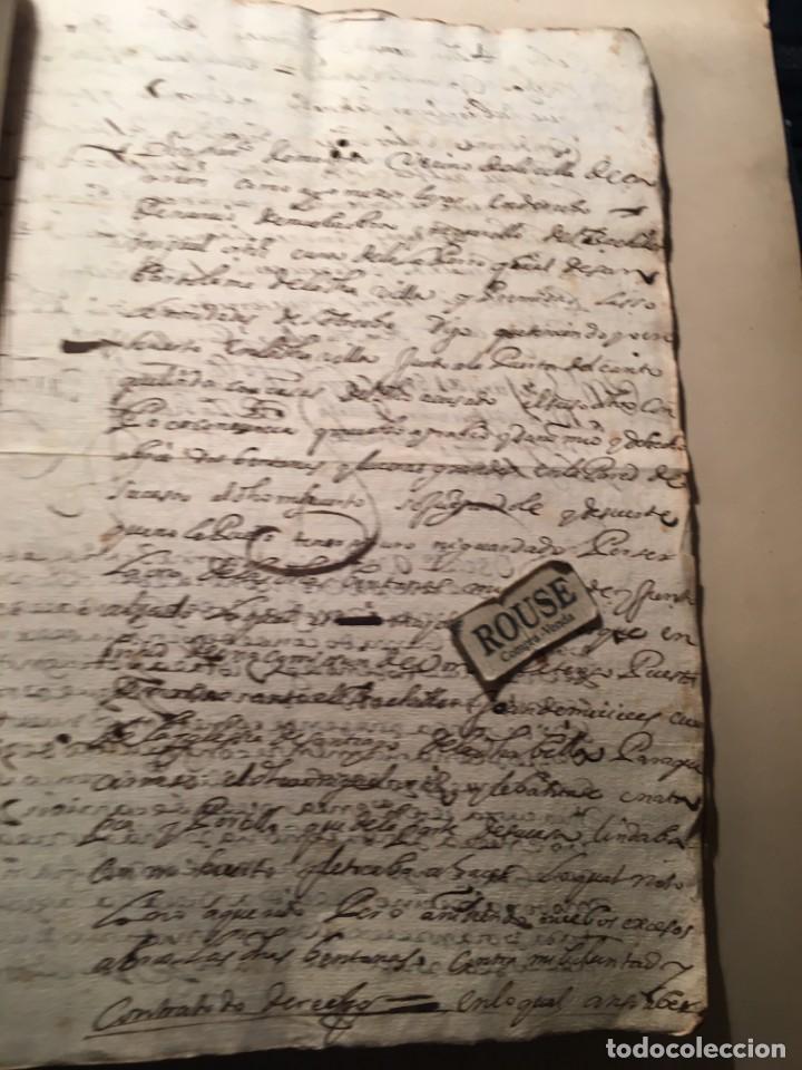 Manuscritos antiguos: CARRION DE LOS CONDES ( PALENCIA) - antiguo documento manuscrito 1617 - 106 PAG. 30X21 CM. - Foto 13 - 231218280