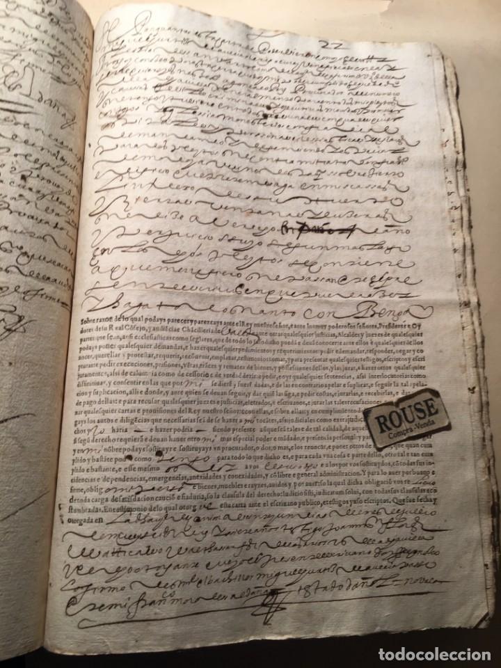 Manuscritos antiguos: CARRION DE LOS CONDES ( PALENCIA) - antiguo documento manuscrito 1617 - 106 PAG. 30X21 CM. - Foto 15 - 231218280