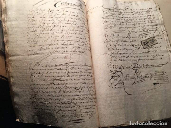 Manuscritos antiguos: CARRION DE LOS CONDES ( PALENCIA) - antiguo documento manuscrito 1617 - 106 PAG. 30X21 CM. - Foto 16 - 231218280