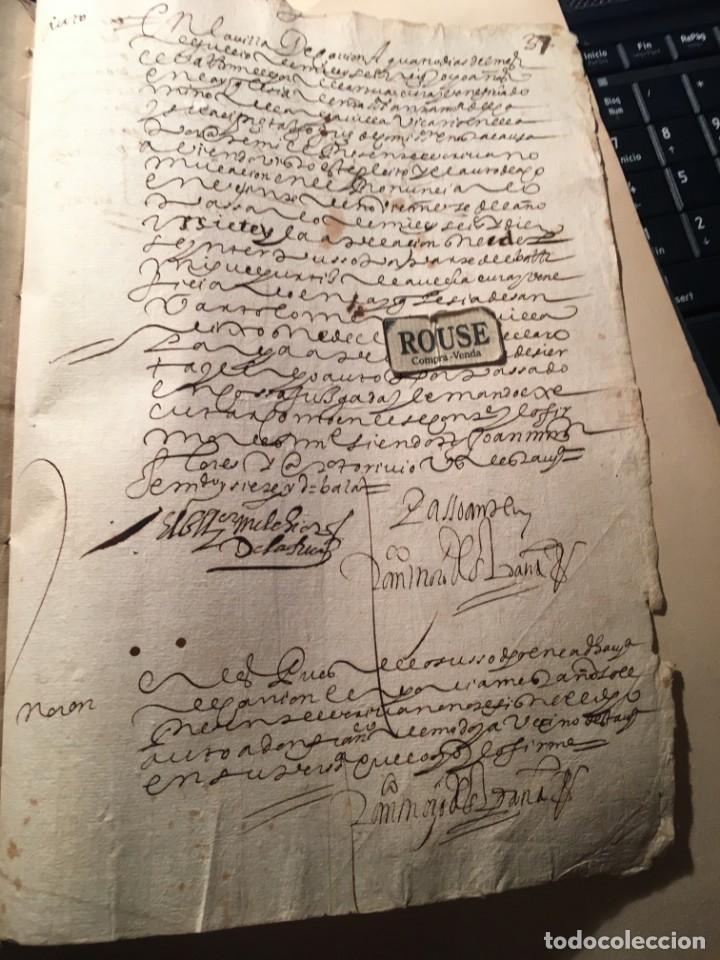 Manuscritos antiguos: CARRION DE LOS CONDES ( PALENCIA) - antiguo documento manuscrito 1617 - 106 PAG. 30X21 CM. - Foto 17 - 231218280