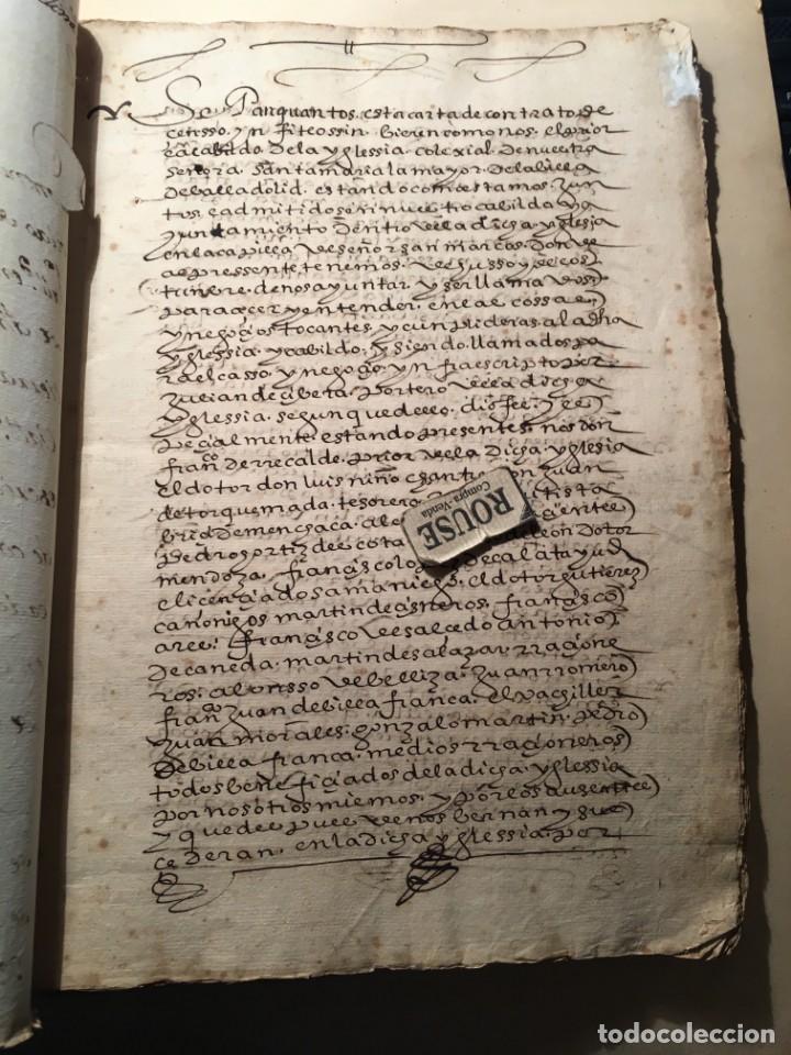 VALLADOLID - SANTA MARIA LA MAYOR - ANTIGUO DOCUMENTO MANUSCRITO 1587 - 84 PAG. 31X21 CM. (Coleccionismo - Documentos - Manuscritos)