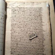 Manuscritos antiguos: VALLADOLID - SANTA MARIA LA MAYOR - ANTIGUO DOCUMENTO MANUSCRITO 1587 - 84 PAG. 31X21 CM.. Lote 231221120