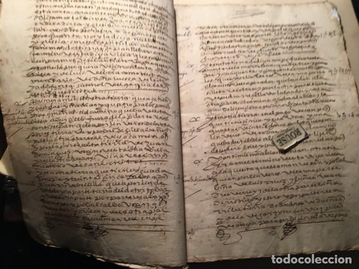 Manuscritos antiguos: VALLADOLID - SANTA MARIA LA MAYOR - antiguo documento manuscrito 1587 - 84 PAG. 31X21 CM. - Foto 2 - 231221120