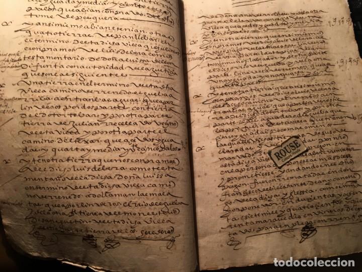 Manuscritos antiguos: VALLADOLID - SANTA MARIA LA MAYOR - antiguo documento manuscrito 1587 - 84 PAG. 31X21 CM. - Foto 3 - 231221120