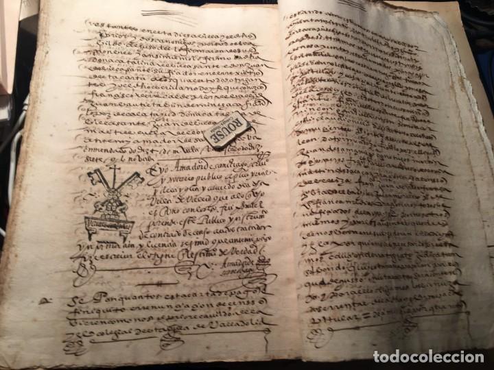 Manuscritos antiguos: VALLADOLID - SANTA MARIA LA MAYOR - antiguo documento manuscrito 1587 - 84 PAG. 31X21 CM. - Foto 4 - 231221120