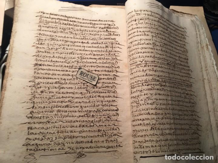Manuscritos antiguos: VALLADOLID - SANTA MARIA LA MAYOR - antiguo documento manuscrito 1587 - 84 PAG. 31X21 CM. - Foto 5 - 231221120