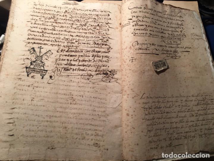 Manuscritos antiguos: VALLADOLID - SANTA MARIA LA MAYOR - antiguo documento manuscrito 1587 - 84 PAG. 31X21 CM. - Foto 6 - 231221120