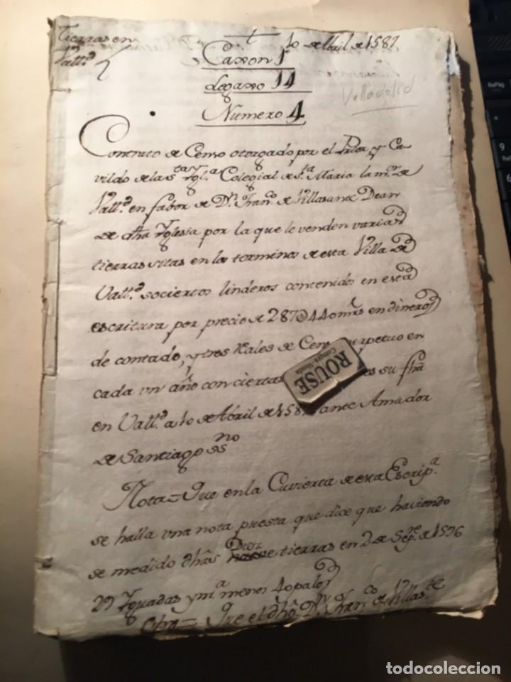 Manuscritos antiguos: VALLADOLID - SANTA MARIA LA MAYOR - antiguo documento manuscrito 1587 - 84 PAG. 31X21 CM. - Foto 7 - 231221120