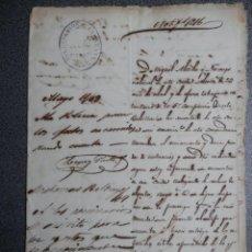 Manuscrits anciens: MANUSCRITO AÑO 1869 INFORME POLICIAL SOBRE ABANDONO DE LA CIUDAD CON LAS ARMAS - TABAQUERO. Lote 231256740