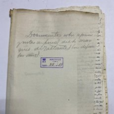 Manuscritos antiguos: DOCUMENTOS DEL MARQUES DE TABLANTES EN DIFERENTES AÑOS. 1750. VER Y LEER. Lote 231318175