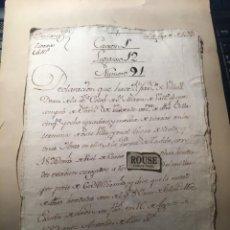 Manuscritos antiguos: PUERTA DE TUDELA (VALLADOLID) ANTIGUO DOCUMENTO MANUSCRITO 1582 - 8 PAG.. Lote 231358070