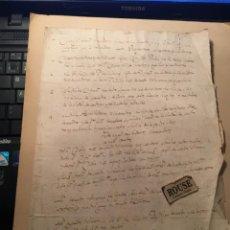 Manuscritos antiguos: VILLA DE PEDROCHES - CORDOVA - ANTIGUO DOCUMENTO MANUSCRITO 1635 - 4 PAG. 30X21 CM.. Lote 231516920