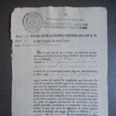 Manuscritos antiguos: JOSÉ NAPOLEÓN I MANUSCRITO AÑO 1811 FISCAL OFICIOS MUY RARO - CERTIFICADO PAGO ARRIENDO. Lote 231590455
