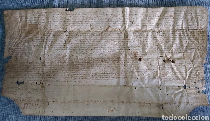 MANUSCRITO PERGAMINO AÑO 1591. MARQUESADO TORRELLES DE FOIX. LLUIS DE PEGUERA. VILAFRANCA PENEDES (Coleccionismo - Documentos - Manuscritos)