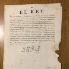 Manuscritos antiguos: NOMBRAMIENTO AUTÓGRAFO REY CARLOS IV. Lote 232701675