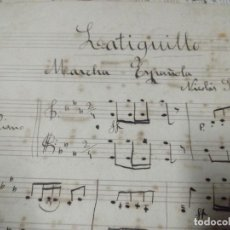 Manuscritos antigos: MANUSCRITO ANTIGUO MARCHA ESPAÑOLA POR NICOLÁS GARCÍA IBÁÑEZ MANUSCRITO. Lote 233029775