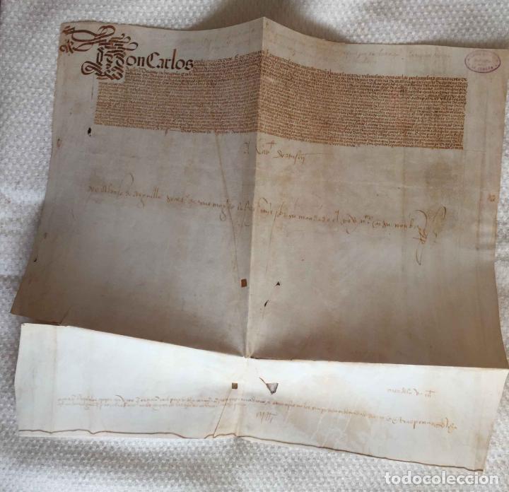 Manuscritos antiguos: Facsímil PUERTO de LA CORUÑA (Carlos V, 1520) GALICIA. Coleccionista - Foto 3 - 233430525