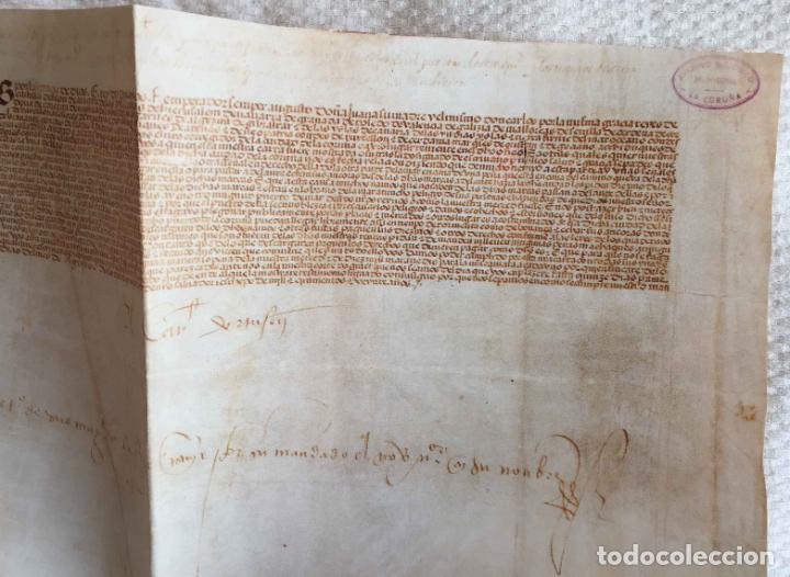 Manuscritos antiguos: Facsímil PUERTO de LA CORUÑA (Carlos V, 1520) GALICIA. Coleccionista - Foto 7 - 233430525